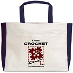 I Love Crochet Tote Bag